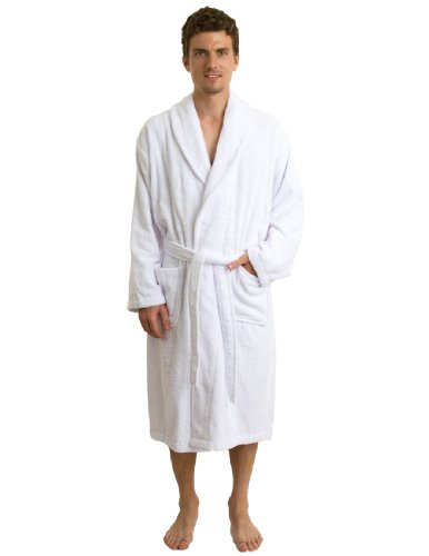 TowelSelections Terry Cloth Bathrobe - Shawl Collar Terry Robe for Women and Men, 100% Turkish Cotton, Made in Turkey (White,S/M) by TowelSelections (Image #3)