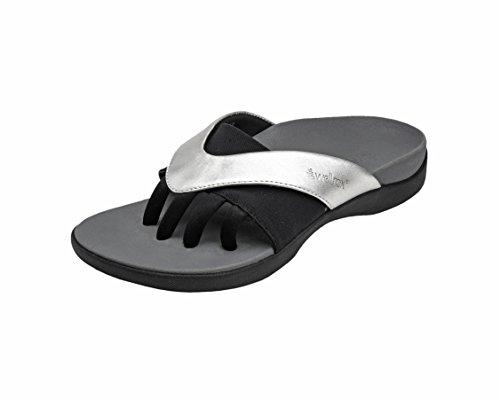 (Wellrox Women's Evo-Grasp Silver Casual Sandal 11)