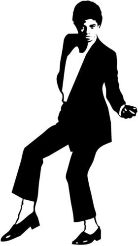 michael jackson silhouette car decal window sticker large 24 mj006 white color decal