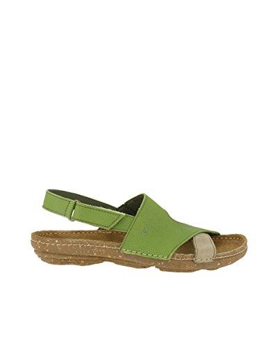 El Naturalista N5221 Soft Grain-Pleasant Green-Piedra/Torcal Green Woman Sandals Elastic