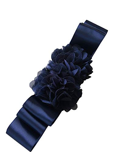 (Leimandy Simple Flowers Belts/Sashes for Wedding/Party/Bridal Dress A06 (Navy) )