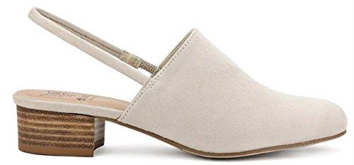 Beast FashionMorocco-01 Women Slingback Slip On Kitten Low Block Heel Mules Taupe Taupe F6HNM