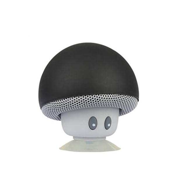 Haut-Parleur Portable Bluetooth étanche Voyage en Plein airBande dessinée Petit Champignon Bluetooth Haut-Parleur étanche Smart Petit Haut-Parleur Rouge 5.5cmx5.5cm 7