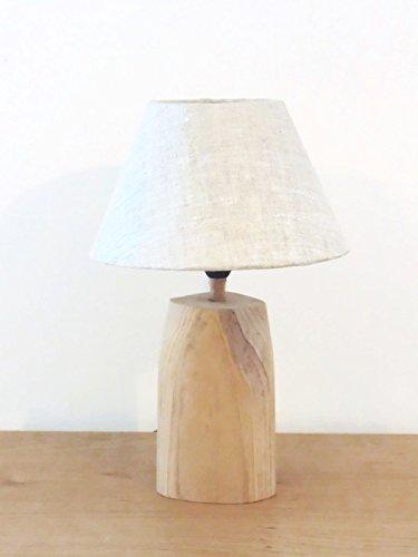 Lampe Bois Flotté Abat Jour Conique Lin Luminaire Idée
