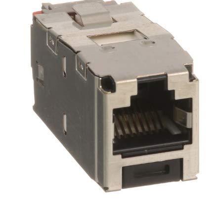 Panduit CJS5E88TGY Category-5E 8-Wire TG-Style Shielded Jack Module 5 Pack