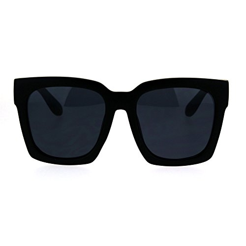 SUPER Oversized Square Sunglasses Womens Modern Hipster Fashion Matte Black (Oversized Square Sunglasses)