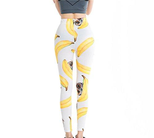 YICHUN - Medias deportivas - para mujer Bananas White 6#