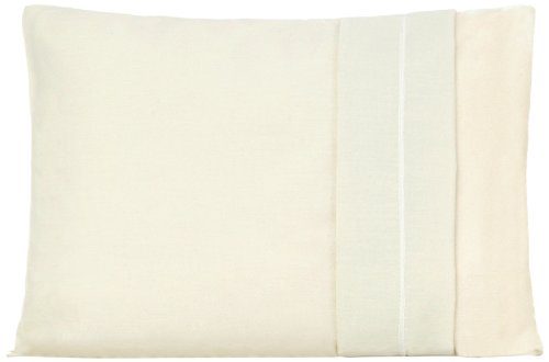 """My First  Set of Two Toddler Pillow Cases Fits Pillows Sized 12"""" x 16"""", Cream"""