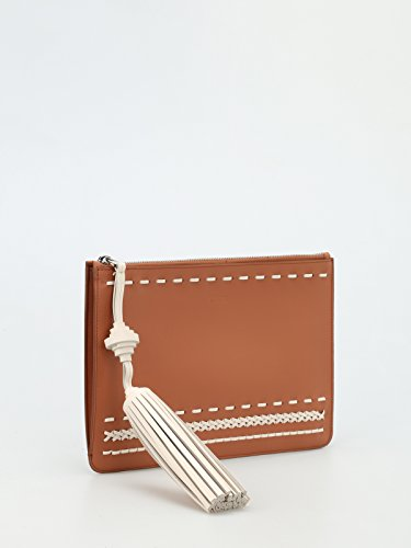 Leather Clutch Donna Tod's Woven Marrone Tod's Woven Details 1gnSIq