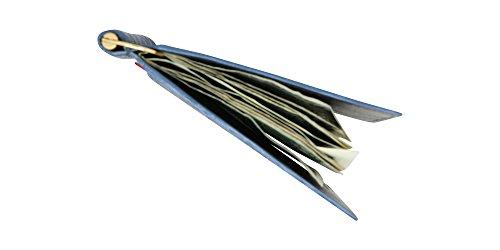 uu Nbbc1 Profundo Genuina De Caso De Hecho Dinero Clip De En Bronce La Piel Ee Cocodrilo Tarjeta De Marino Billetera Azul RHqH4