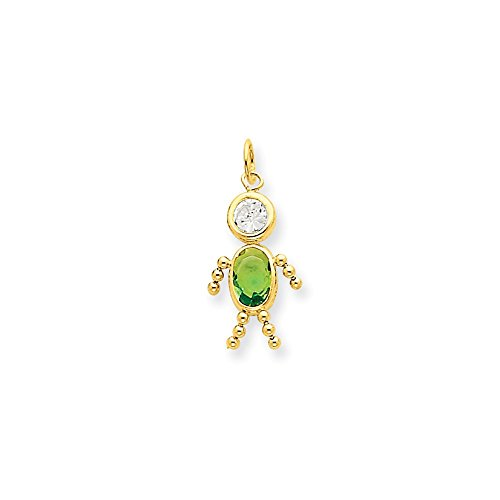 Jewels By Lux 14k August Boy Birthstone Charm (Boy Charm August Birthstone)