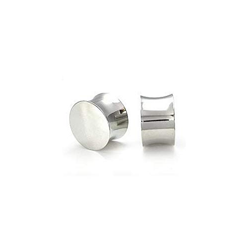Painful Pleasures Solid Steel Double Flared Saddle Plugs - Price Per 1-8mm ~ 0g