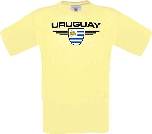 Shirtstown Man Camiseta Uruguay Camiseta de País con SU Jungen y su Número Deseado, Fútbol