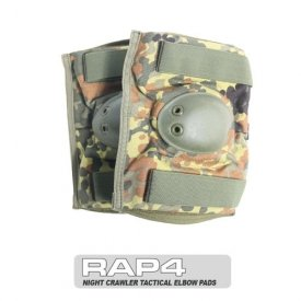 Night Crawler Tactical Elbow Pads (German Flecktarn) - paintball elbow pads by Rap4