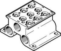 Festo 543831 Model CPE14-PRS-3//8-3 Manifold Block