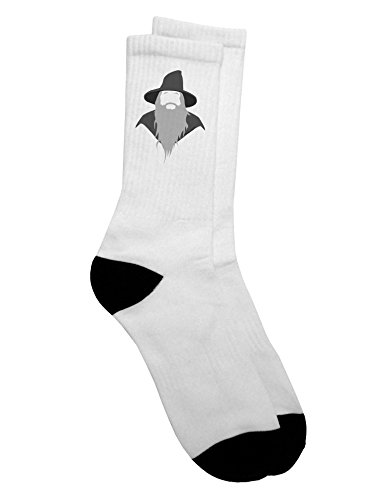 TooLoud Grey Wizard Adult Crew Socks Mens sz. 9-13