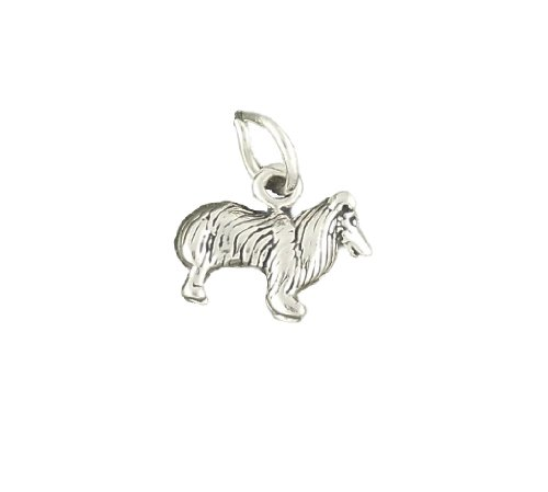 Sheltie CharmSterling Silver