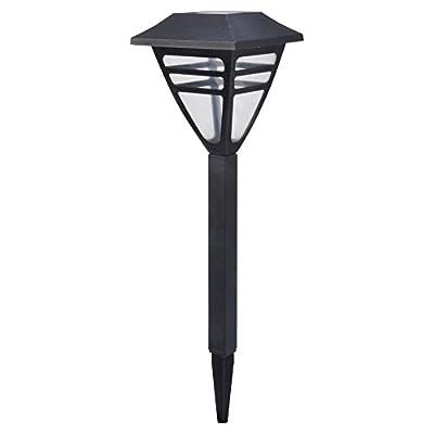 Moonrays 97517 Meredith LED Plastic Path Light, 4-Pack, Black