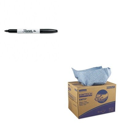 Kimtech Prep Kimtex Wipers - KITKIM33352SAN30001 - Value Kit - KIMBERLY CLARK KIMTECH PREP KIMTEX Wipers (KIM33352) and Sharpie Permanent Marker (SAN30001)