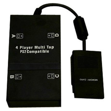 PS2 Multi-Player Adapter (Aftermarket Multitap for Playstation 2) (Multi Tap Sony Ps2)