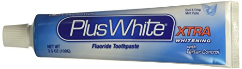 Plus White Toothpaste Xtra Whitening Mint Paste 3.5 Ounce (103ml) (White Mint Toothpaste)