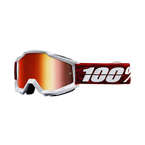 100% ACCURI Goggles Graham - Mirror Red Lens, One Size
