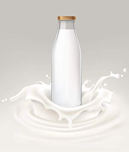 Dkdas Glass Milk Bottle with Air Tight Cap 500 ML