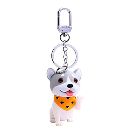 (Fly Cartoon Cute Dog Keychain Key Ring Bag Key Chain Keychain (Color : Yellow))