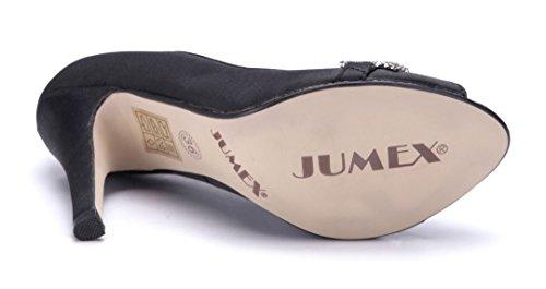 Schuhtempel24 Damen Schuhe Peeptoes Pumps 11 cm High Heels Schwarz