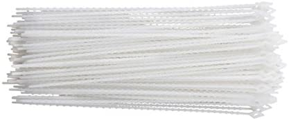 8 South Main Hardware 888070 8-in Beaded Natural 100 Piece 18-lb Speciality Cable Tie 100-Pack