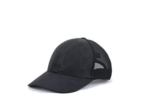 Gucci GG Nylon Coated Baseball Hat, Black (X-Large (60 cm / 23.6 in))