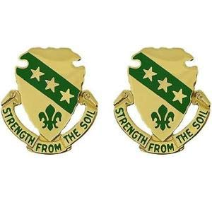 (New US Army North Dakota National Guard Unit Crest 2ea DUI Military Insignia by HighQ Store)