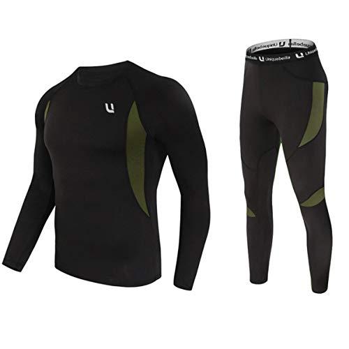 UNIQUEBELLA Thermounterwäsche Set, Funktionswäsche Herren Skiunterwäsche Winter Suit Ski Thermo-Unterwäsche Thermowäsche…