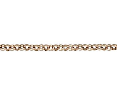 Or 9ct mailles jaseron Rouge/rose rond 19,1cm/Bracelet 19cm