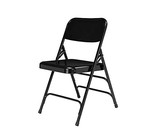 (Nаtiоnаl Public Sеаting Deluxe Premium Collection Series Model 310 All Steel Premium Folding Chair with Triple Brace 480 lbs Capacity Black (Carton of 4) Decor Comfy Living Furniture)