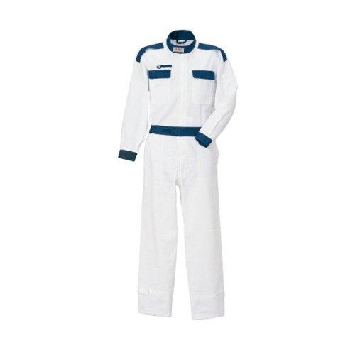 kurehifuku(クレヒフク)つなぎ おしゃれ ピットスーツ カジュアルつなぎ kr-kr5 B01N3A2FG1 3L|ホワイト ホワイト 3L