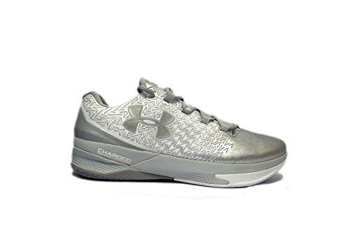 Under Armour TB ClutchFit Drive 3 Low Basketball Shoe (13, White/Metallic Silver/Metallic Silver)