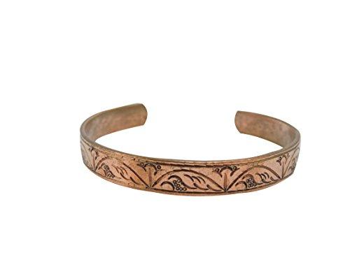 Tibetan Style Bracelet - Tibetan Hand Crafted Copper Medicine Bracelet From Nepal (Style 4)