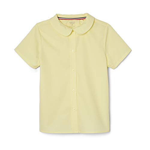(French Toast Little Girls' Short Sleeve Peter Pan Collar Blouse, Yellow, 5)