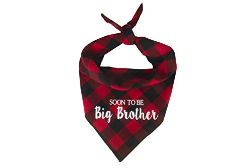 Willowear Dog Bandanas Soon to be Big Brother Red XLarge