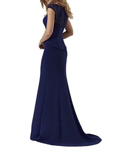 Still Charmant Abschlussballkleider Dunkel Promkleider Jaeger Damen Gruen Abendkleider Meerjungfrau Blau Langes 7H8w7