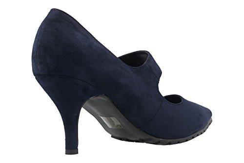 Andres Machado Damen Spangen-Pumps - Blau Schuhe in Übergrößen