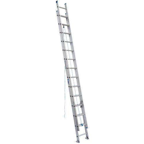 Werner D1328-2 250-Pound Duty Rating Aluminum Flat D-Rung Extension Ladder, 28-Foot