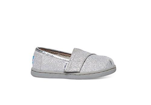 TOMS Kids Unisex Seasonal Classics (Infant/Toddler/Little Kid) Silver Glimmer Loafer 2 Infant M - Image 5