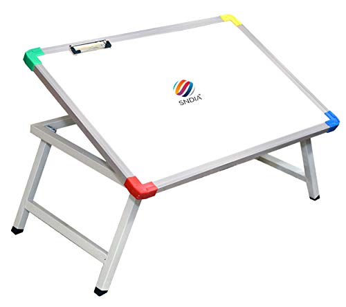 SNDIA Multi Purpose Foldable Laptop Study Writing Bed Breakfast Tray Table for Children with Whiteboard Paper Holding…