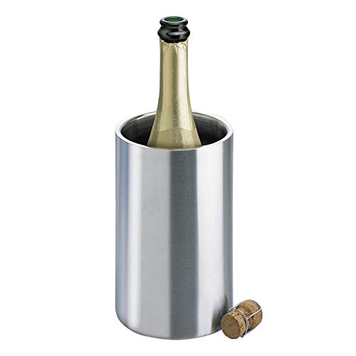 Isosteel VA-9568 Bottle Cooler Double-Layered 18/8 Stainless Steel with Matt Brushed Surface