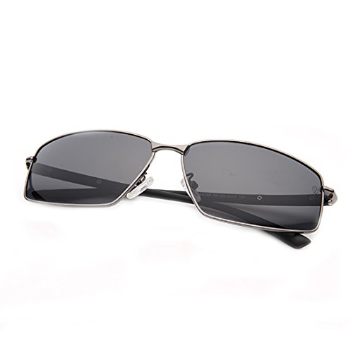 RAKISH Driving Glasses for Men Anti Glare Polarized Sunglasses for Day and Night Outdoor Sports Glasses (Square Frame