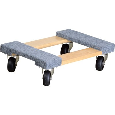 Ironton Carpeted Mover's Dolly - 1,000-Lb. Capacity, 18in. x 12in.