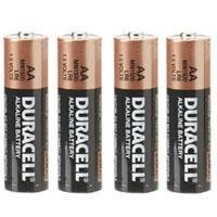 Duracell AA Battery, 1.5 volt Alkaline, Pack of 4