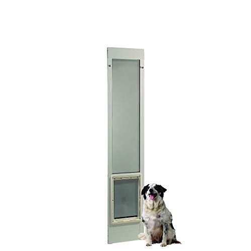 "Ideal Pet Products 75PATXLW 75"" Fast Fit Aluminum Pet Patio Door, X-Large/10.5"" x 15"", White"